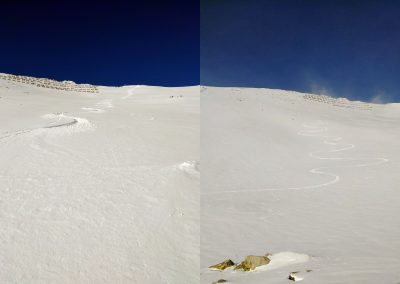 Technika zjazdu skialpinistu